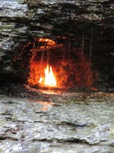 Closer look at Eternal Flame, Chestnut Ridge Park