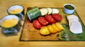 Fresh zucchini, tomatoes, and mozzarella  Photo by Susan Pelton