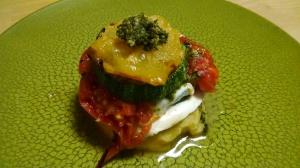 Zucchini & Tomato Napoleon  Photo by Susan Pelton