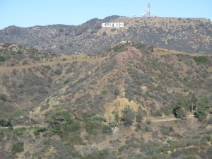 Hollywood sign from Griffiths Park Observatory