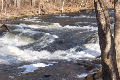 Spring conditions on the Scantic River. SAPelton photo.