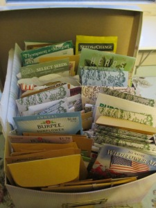 A photo box holds the authors seed collection. Photo by DMP