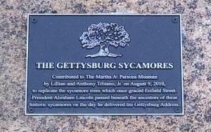The commemorative plaque