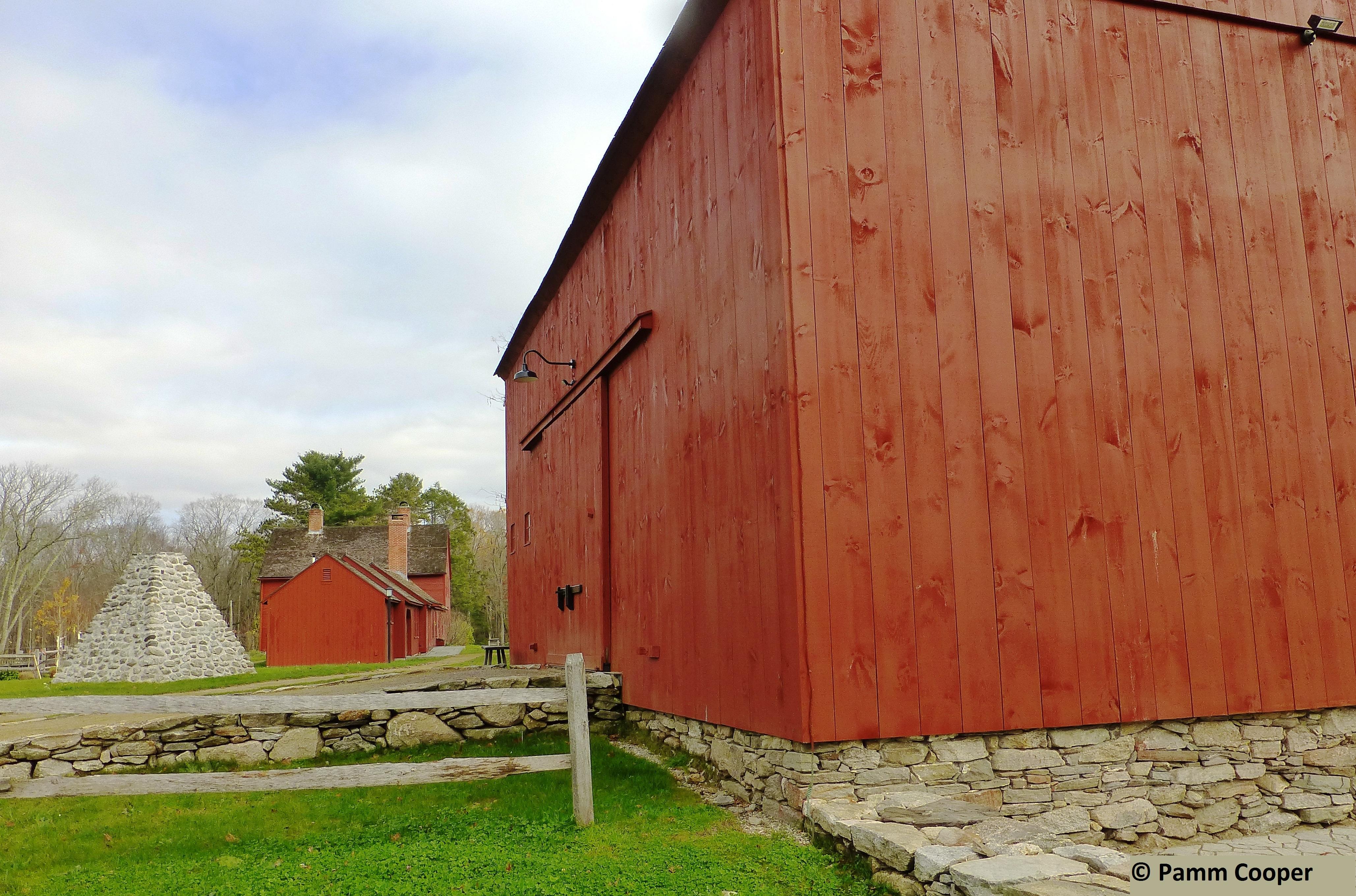 Nathan Hale Homestead post and beam barn c 1750s