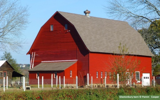 red barn in Glastonbury