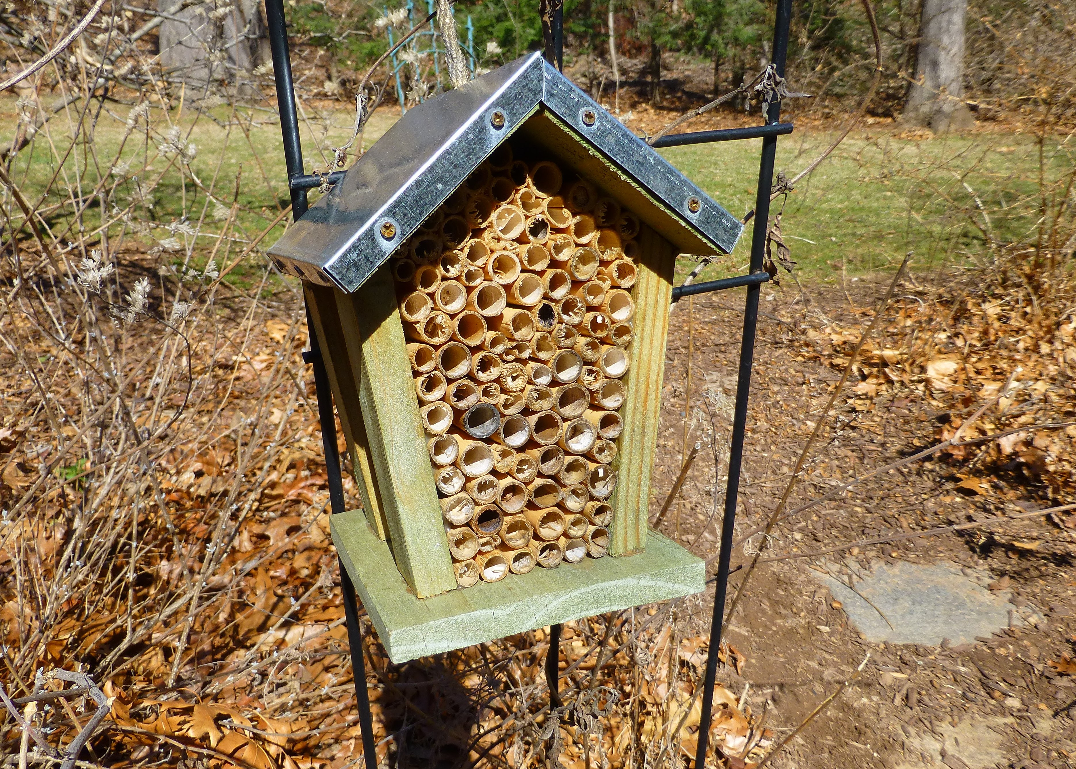 bee nest house using bamboo tubes