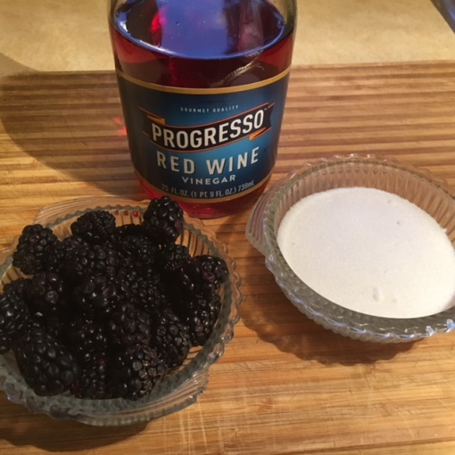 blackberries, sugar & vinegar