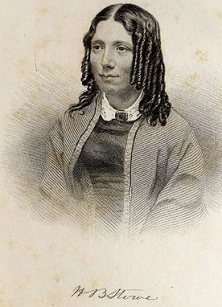 Frontispiece engraving of Harriet Beecher Stowe, Uncle Tom's Cabin (Boston John P. Jewett, 1853).