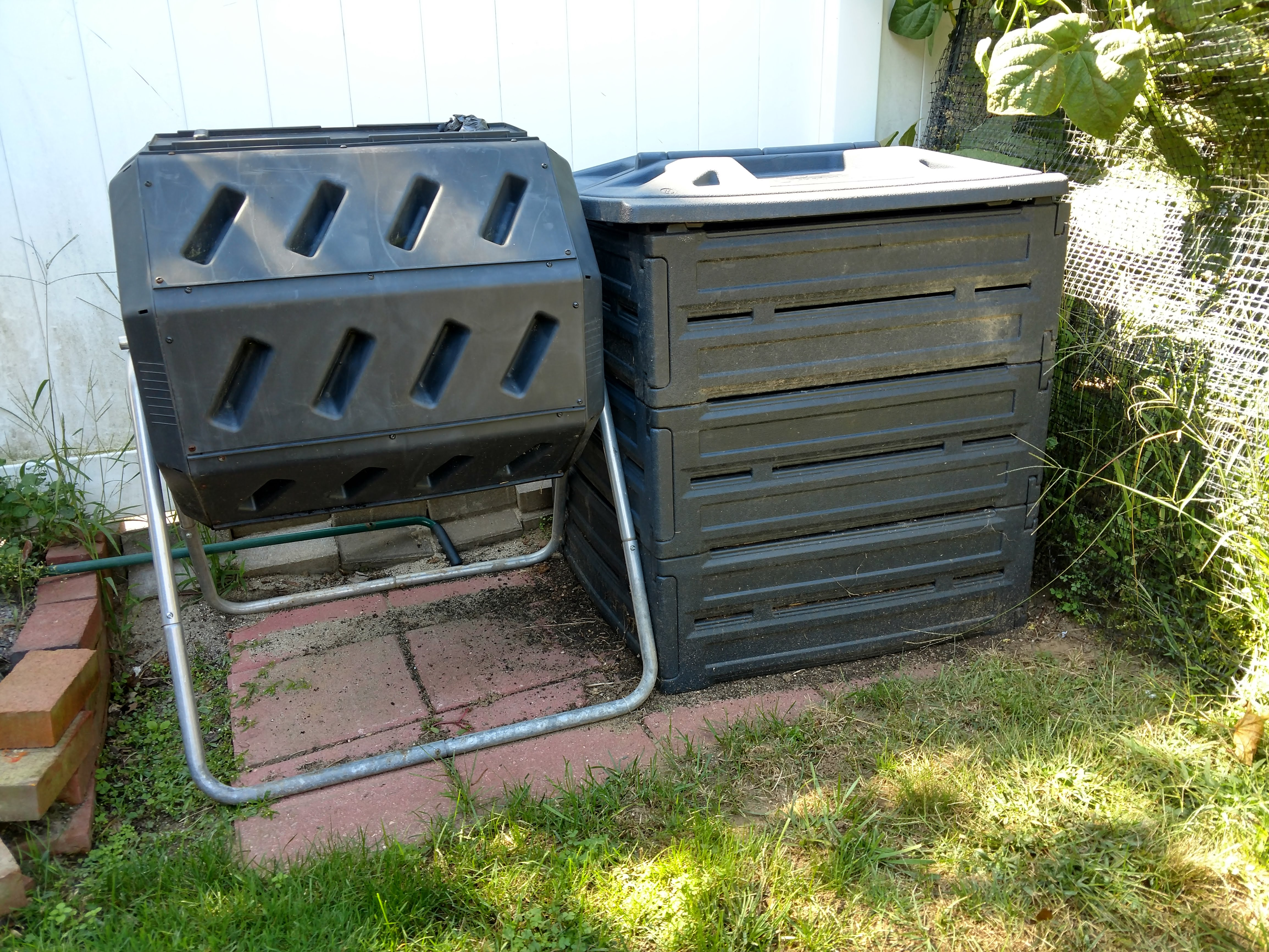 Our bins, side by side